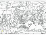 Rainforest Scene Coloring Pages Fish & Aquarium Scene Coloring Page Coloring for Adults by