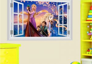 Rapunzel Wall Mural Cartoon Rapunzel Wall Stickers for Kids Rooms Girl S Room Decor 3d