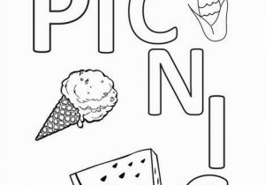 Recipe Book Coloring Pages I Like to Go On A Picnic Coloring Page Twisty Noodle