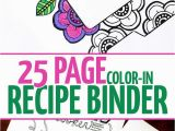 Recipe Book Coloring Pages the Recipe Binder that You Can Color In