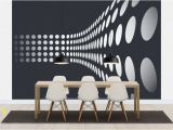 Red and Black Wall Murals Optical Illusion Wallpaper
