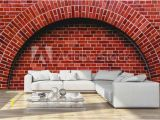 Red Brick Wall Mural Arch Od Red Brick Wall Artistic Background Regular Texture