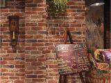 Red Brick Wall Mural Beibehang Retro Vintage 3d Faux Brick Brick Wallpaper Cafe Bar Restaurant Culture Red Brick Wall Paper Papel De Parede