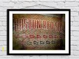 Red sox Green Monster Wall Mural Fenway Park Championship Flag Wall Mural Boston Red sox Wall Art In Print or Canvas Free Shipping