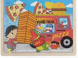 Red Titan Ryan Coloring Page Ryan S World Food Truck 24 Piece Wooden Jigsaw Puzzle