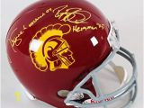 Reggie Bush Coloring Pages Amazon Matt Leinart & Reggie Bush Signed Helmet Usc