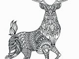Reindeer Printable Coloring Pages Animal Mandala Coloring Pages