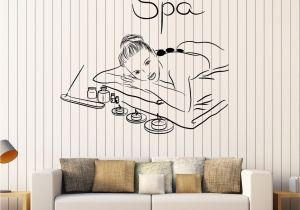Relaxing Wall Murals Vinyl Wall Decal Spa Beauty Salon Massage Relax Stickers Mural