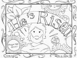 Religious Easter Coloring Pages for toddlers Jesus is Risen Coloring Page Whats In the Bible Adorable He Ruva
