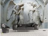 Religious Murals Wallpaper 3d Wallpaper Cloth Custom Relief Classical Religious Figures