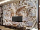 Religious Murals Wallpaper Custom 3d Wall Murals Wallpaper Chinese Style Dragon Relief