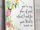Religious Wall Murals for Churches Bible Verse Art Floral Christian Wall Decor Scripture Wall Art