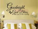 Religious Wall Murals for Churches Christian Goodnight God Bless Religious Vinyl Wall Sticker Wall