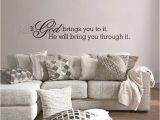Religious Wall Murals for Churches Christian if God Brings You to It Religious Vinyl Wall Sticker Decal