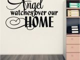 Religious Wall Murals for Sale Amazon Hot An Angel Watches Over Our Home Vinyl Wall Art Quote