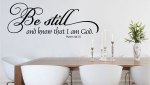 Religious Wall Murals for Sale Be Still and Know Christian Wall Decal