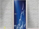 Removable 3d Wall Murals Amazon Night Sky Door Wall Mural Wallpaper Stickers