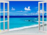 Removable Beach Wall Murals Details About 3d Beach Wall Stickers Window View Home Decor