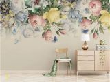 Removable Floral Wall Mural 3d Amazing Spring Warm Floral Removable Wallpaper Peel&stick