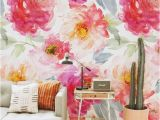Removable Floral Wall Mural Boho Wallpaper Boho Flowers Peony Wallpaper Peonies Wall