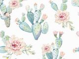 Removable Floral Wall Mural Cactus Watercolor Wallpaper Decals Boho Wallpaper Floral Wallpaper Removable Wallpaper Cactus Wallpaper Peel and Stick Wallpaper