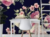 Removable Floral Wall Mural Removable Wallpaper Mural Peel & Stick Spring Floral