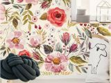 Removable Floral Wall Mural Removable Wallpaper Vintage Berries and Flowers Peel & Stick