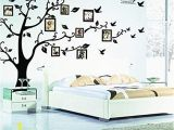 Removable Wall Mural Decals tonver Huge Family Tree Frame Wall Decals Removable Wall Decor Decorative Painting Supplies Wall Treatments Stickers for Living Room Bedroom