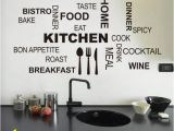 Removable Wall Mural Decals Waterproof Decorative Wall Stickers Kitchen Dining Room Wall Decals