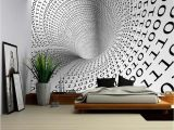 Removable Wall Mural Self Adhesive Large Wallpaper Wall26 Abstract Image Of Tunnel with Binary Language