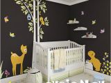 Removable Wall Murals Canada Deer Bear and Tree and Squirrel Nursery Wall Decal and