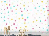 Removable Wall Murals for Kids 3d Colorful Wave Point Wallpaper Removable Self Adhesive