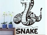 Removable Wall Murals for Kids Amazon Scmkd Cartoon Flathead Snake Wall Sticker for