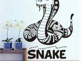 Removable Wall Murals Kids Amazon Scmkd Cartoon Flathead Snake Wall Sticker for