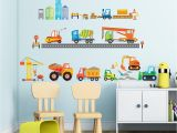 Removable Wall Murals Kids Decowall Dw1612 Construction Site Kids Wall Decals Wall