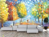 Removable Wall Murals Nature 3d Abstract Colorful Woods Wallpaper Removable Self