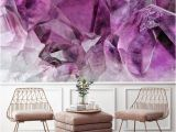 Removable Wall Murals Wallpaper Purple Great Wave Removable Wall Paper Wall Mural Fabric Textile Modern Home Decoration