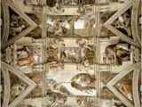 Renaissance Wall Murals Sistine Chapel Ceiling and Lunettes Mural Michelangelo Buonarroti