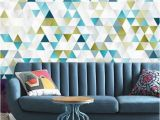 Repositionable Wall Murals Abstract Geometric Wallpaper Self Adhesive Wallpaper Colorful