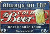 Retro Diner Wall Murals Amazon Sumik Always Tap Cold Beer Best Head In town