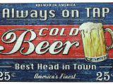 Retro Diner Wall Murals Amazon Sumik Always Tap Cold Beer Best Head In town