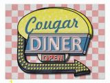 Retro Diner Wall Murals Create Your Own Custom Retro 50 S Diner Sign 2