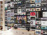 Retro Game Wall Mural ᗔbeibehang European Style Retro Creative Tape Art Tv