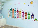 Reusable Vinyl Wall Murals Amazon Encoco Learning Wall Decals for Kids Educational
