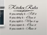 Reusable Vinyl Wall Murals Us $5 98 Off Kitchen Rules Wall Decal Decor Sign Quote Vinyl Sticker Poster Home Gifts Removable Art Mural Home Decoration Wall Decals L876 In
