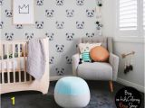 Reusable Wall Murals Panda Wallpaper Watercolor Pastel Pale Wall Mural Kids Room