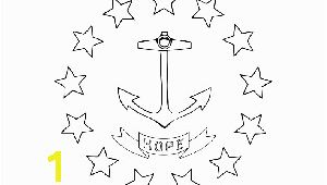 Rhode island Coloring Pages Rhode island State Flag Coloring Page
