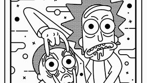 Rick and Morty Trippy Coloring Pages Rick and Morty Roy Lichtenstein Style Tv Shows Adult