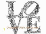 Robert Indiana Love Coloring Page Philadelphia S Robert Indiana Love Word Art Typography Illustration