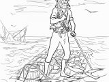 Robinson Crusoe Coloring Pages Robinson Crusoe On A Raft after Shipwrecked Coloring Page
